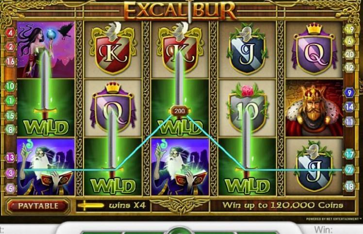 Excalibur Sword of Fortune Slot Machine
