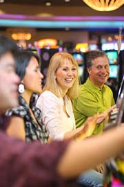 People playing slots